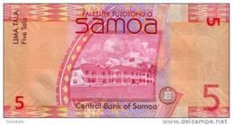 SAMOA P. 38a 5 T 2012 UNC - Samoa