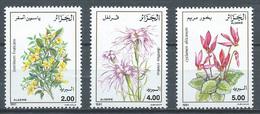 Algérie YT N°996/998 Fleurs Neuf ** - Algeria (1962-...)