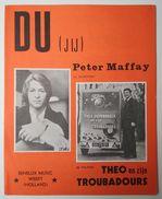 Oude Partituur Du JIJ Peter Maffay Orloff Johnny Hoes1969 Op Telstar Theo En Zijn Troubadours Partition Score Partitur - Partitions Musicales Anciennes