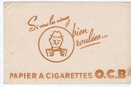 Oct17   79992   Buvard    Papier à Cigarettes OCB - Tobacco