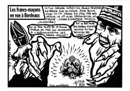 CPM (33) BORDEAUX PETAIN Cureton Anti-Maçonnique Franc-Maçon Caricature Tirage Limité Illustrateur J. LARDIE - Bordeaux