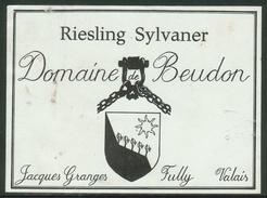 Rare // Etiquette // Riesling Sylvaner, Jacques Granges,Fully, Valais, Suisse - Etiquettes