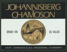 Rare // Etiquette // Johannisberg De Chamoson, Carruzzo & Cie, Chamoson, Valais, Suisse - Etiquettes