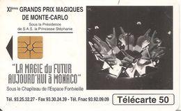 CARTE°-PUBLIC-MONACO-50U-MF34-GEM A-03/95-COMITE OLYMPIQUE-R° Glacé-V°Grands N°-UTILISE-TBE - Monaco