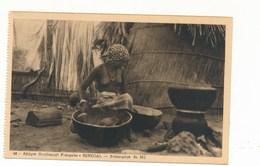 Cpa - AFRIQUE- SENEGAL-AOF-préparation Du Mil - Senegal