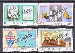 """ST. VINCENT  495-8     **  """"SPECIMEN""""   RELIGION   BISHOPS  OF  WINDWARD  ISLANDS - St.Vincent (...-1979)"""