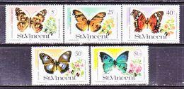 """ST. VINCENT  523-7     **  """"SPECIMEN""""   BUTTERFLIES - St.Vincent (...-1979)"""