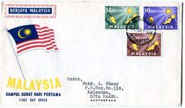 MALAYSIA 1963 FDC. - Maleisië (1964-...)