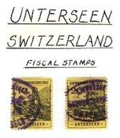 SWITZERLAND, Unterseen, Used, F/VF - Fiscaux