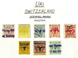 SWITZERLAND, Uri, */o M/U, F/VF - Fiscaux