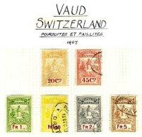 SWITZERLAND, Vaud, Used, F/VF - Fiscaux