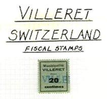 SWITZERLAND, Villeret, Used, F/VF - Fiscaux