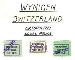 SWITZERLAND, Wynigen, Used, F/VF - Fiscaux