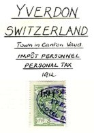 SWITZERLAND, Yverdon, Used, F/VF - Fiscaux