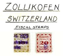 SWITZERLAND, Zollikofen, Used, F/VF - Fiscaux