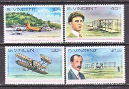 ST. VINCENT  537-40   **   WRIGHT  BROS.  AERO  FIRST  FLIGHT - St.Vincent (...-1979)