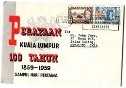 MALAYSIA 1959 FDC. - Maleisië (1964-...)