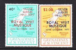 ST. VINCENT  GRENADINES  127-8  **   ROYAL  VISIT   MAP - St.Vincent (...-1979)