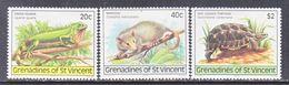 ST. VINCENT  GRENADINES  170-2   **  ISLAND   WILDLIFE,   IGUANA,  MANICOU,  TORTOIS - St.Vincent (...-1979)