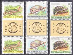 ST. VINCENT  GRENADINES  170-2 X 2  **  GUTTER  PAIRS   ISLAND   WILDLIFE,   IGUANA,  MANICOU,  TORTOIS - St.Vincent (...-1979)