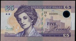 701-SLOVAKIA (produktion) 5 Pounds Princess DIANA NOT LEGAL TENDER Private Issue ANNULUS 30 Pcs UNC 2016 - Banknotes