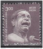 INDIA, 2016, Definitive, Definitives, Bhimsen Joshi, Classical Singer,  MNH, (**) - India