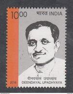 INDIA, 2016, Deendayal Upadhyaya, 1 V,   MNH, (**) - Inde