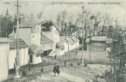 BRUXELLES - Exposition 1910 - Entrée Du Village Sénégalais - Universal Exhibitions