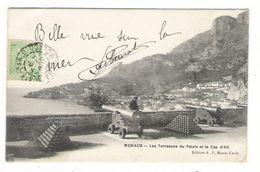 MONACO  /  LES  TERRASSES  DU  PALAIS  ET  LE  CAP  D' AIL  ( Canons Et Boulets ) /  Beau Timbre - Terraces