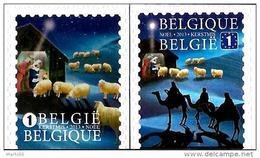 Belgium - 2013 - Christmas - Mint Self-adhesive Booklet Stamp Set - Unused Stamps