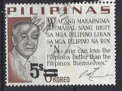 Philiippines  1968  Presidental Sayings  5 On 6s (o) - Philippines