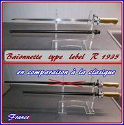 BAÏONNETTE  MODELE R 1935   BON ETAT - Knives/Swords