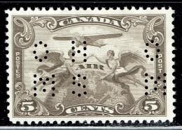4-hole OHMS  5¢ Airmail - Allegory Of Flight  Sc OC1  Mint No Gum - Dienstpost