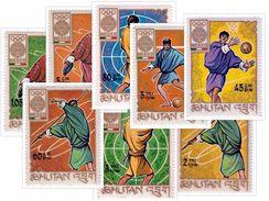 MINT MEXICO OLYMPICS 8-STAMP SET BHUTAN 1968 MINT/MNH - Summer 1968: Mexico City