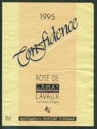 Rare // Etiquette // Rosé De Gamay 1995,Confidence, Association Vinicole De Corseaux, Vaud, Suisse - Etiquettes