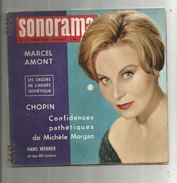 SONORAMA N° 18 , 1960 , 6 Disques Souples , Marcel Amont , Chopin , Michèle Morgan , 2 Scans , Frais Fr :4.25€ - Collector's Editions