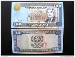 UNC Banknote From Turkmenistan 10000 Manat #10 1996, President Palace Arms $12 - Turkmenistan