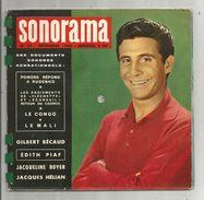 SONORAMA N° 22 , 1960 , 6 Disques Souples , Bécaud , Piaf, J. Boyer, J. Hélian , 2 Scans , Frais Fr :4.25€ - Verzameluitgaven