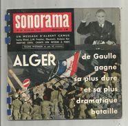 SONORAMA N° 16 , 1960 , 6 Disques Souples , Alger , De Gaulle, A. Camus , Distel , Moustaki , Frais Fr :4.25€ - Collector's Editions