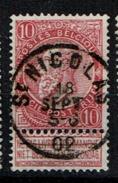 58A  Obl  St Nicolas (+1)    Papier Cigarette  21 - 1893-1900 Schmaler Bart