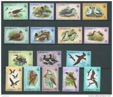 Kiribati 1982 Bird Definitives First Set Of 16 MNH - Kiribati (1979-...)