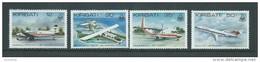Kiribati 1982 Air Tungaru & Plane Set 4 MNH - Kiribati (1979-...)