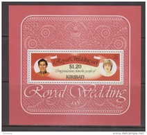 Kiribati 1981 Charles & Di Royal Wedding Miniature Sheet MNH - Kiribati (1979-...)