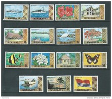 Kiribati 1980 Scene Definitives Unwatermarked Set 15 Fine  MNH - Ship Flower Flag - Kiribati (1979-...)