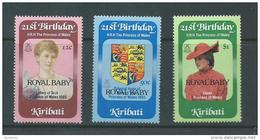 Kiribati 1982 Prince William Royal Baby Overprint Set 3 MNH - Kiribati (1979-...)