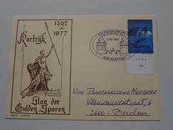 SLAG Der GULDEN SPOREN 1302-1977 > 2002 Kortrijk > Berchem Mercator ( Zie Foto Voor Details ) !! - Poste & Facteurs