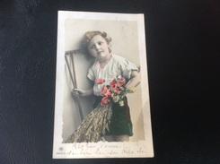 2545/3 - ENFANTS Blé, Fleurs & Outil Agricole - 1911 Timbrée - Scenes & Landscapes