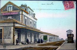 69 VILLEVERT NEUVILLE  LA GARE TRAIN CHEMIN DE FER - Neuville Sur Saone