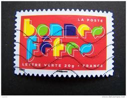 FRANCE OBLITERE 2012 N° 769  BONNES FETES SERIE MEILLEURS VOEUX AUTOCOLLANT ADHESIF - France