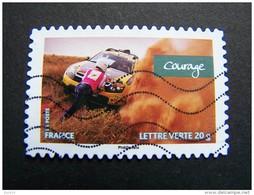 FRANCE OBLITERE 2013 N° 801 COURAGE SERIE CARNET VALEURS DE FEMMES RALLYE AICHA DES GAZELLES MAROC AUTOCOLLANT ADHESIF - France